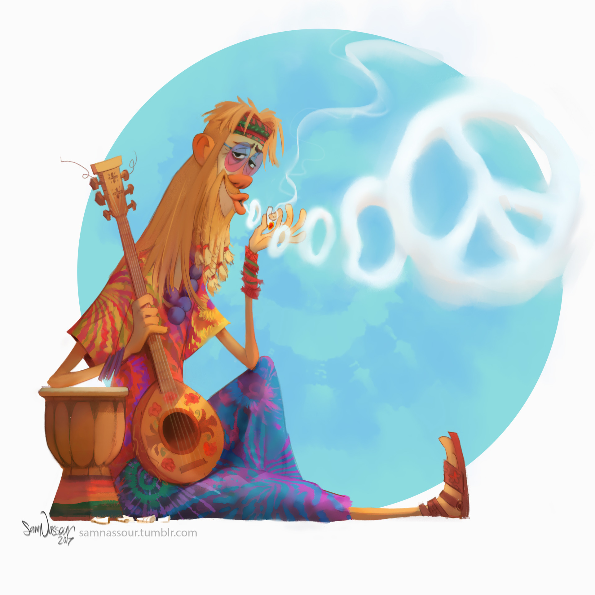 Sam nassour hippie post