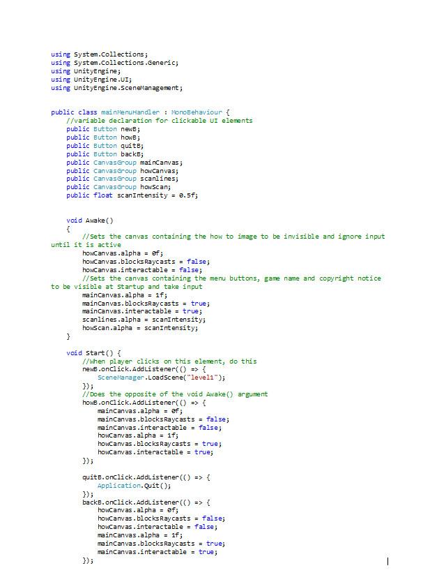 ArtStation - Retro themed main Menu - Unity and C#, Michael Laws