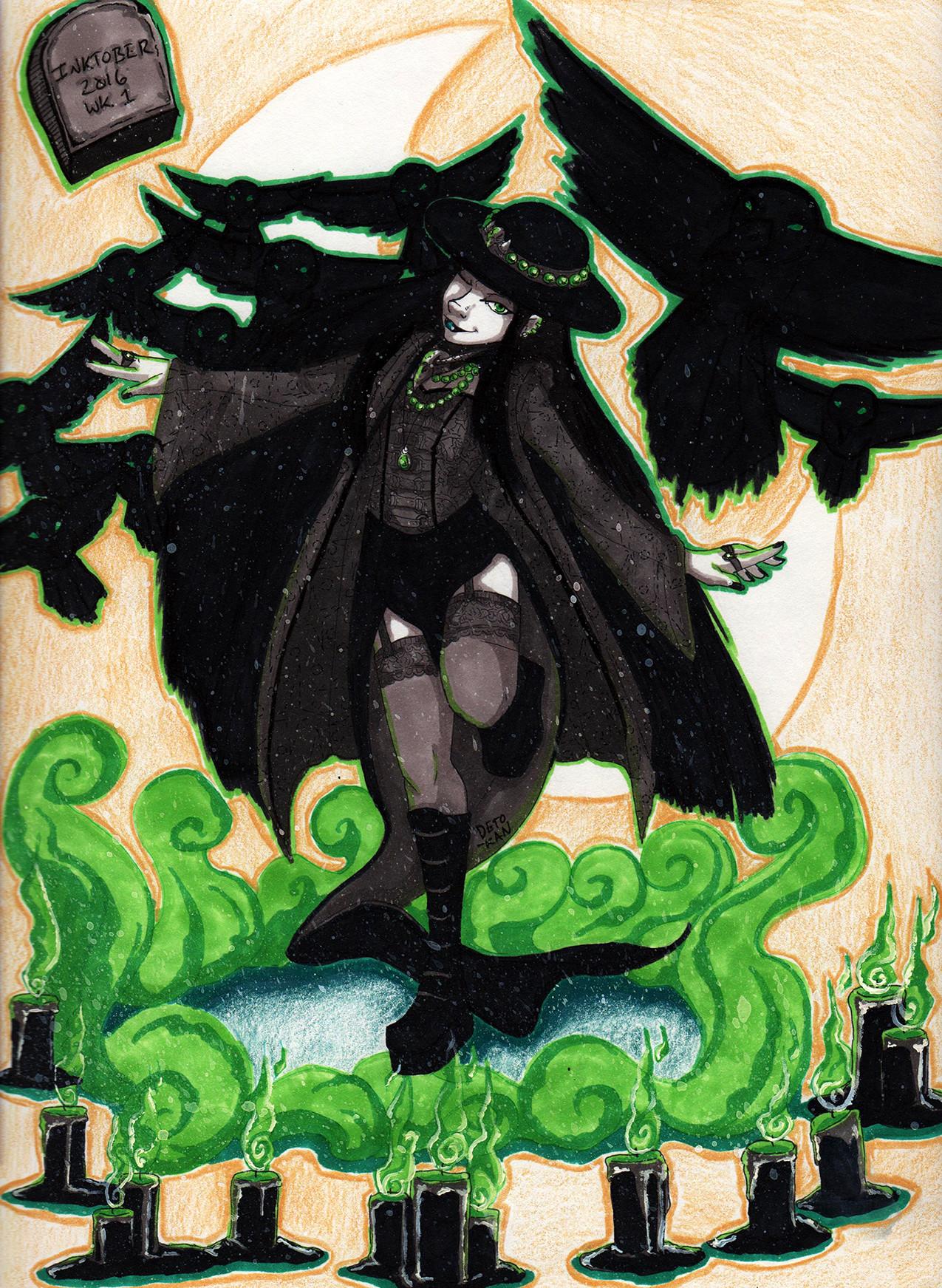 Detonya kan inktober2016 witch