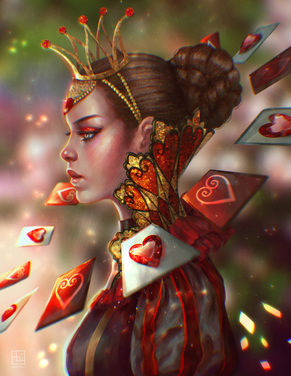 Abigail diaz queen of hearts alice in crystal wonderland by serafleur