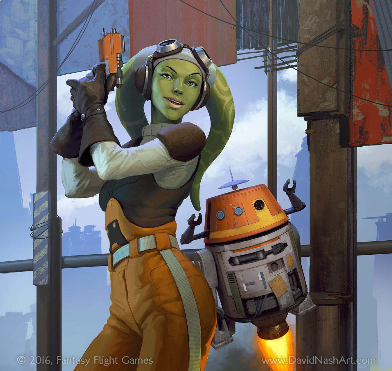 Hera + Chopper for Star Wars Imperial Assault.