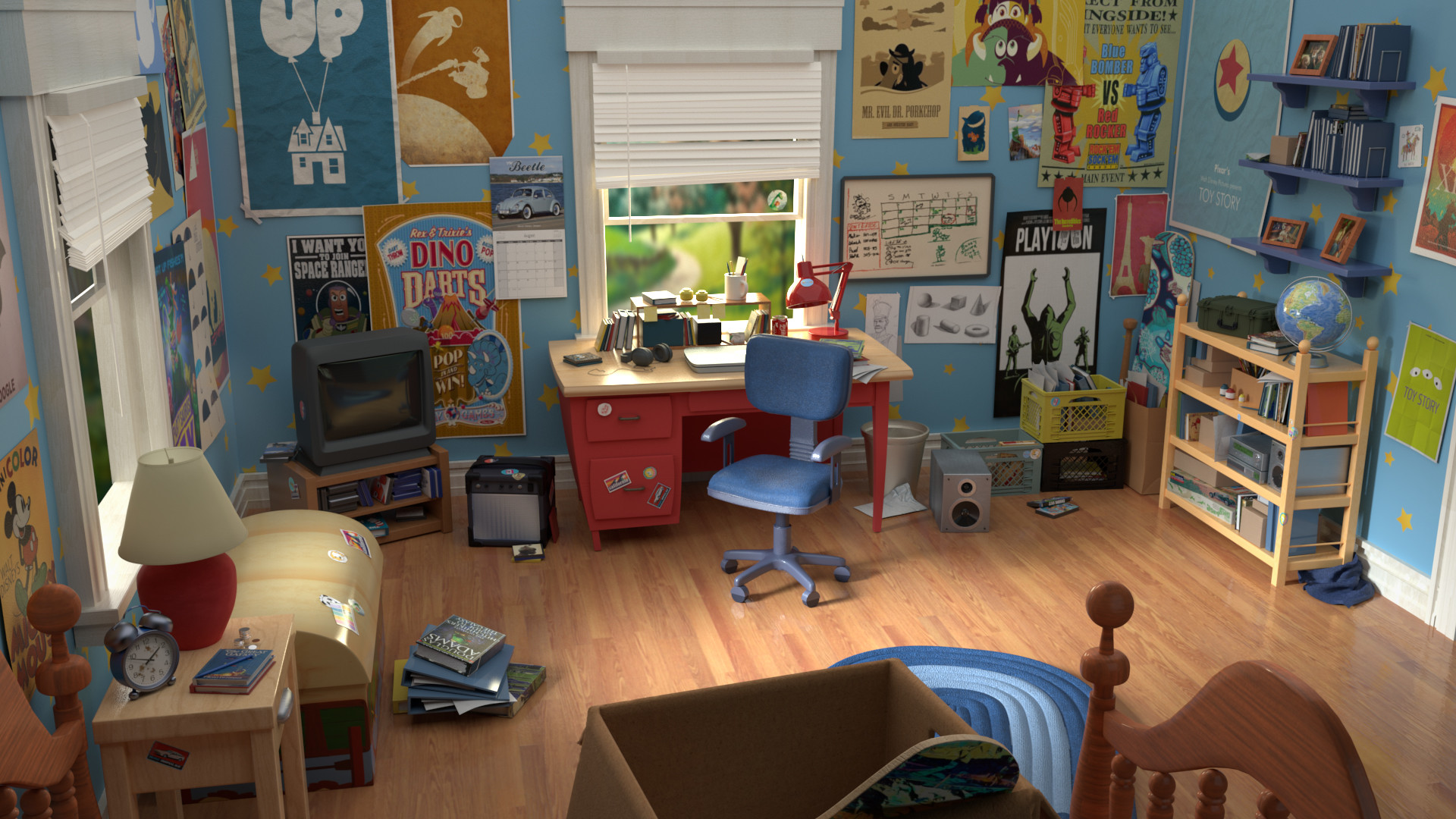 Artstation Toy Story Andy S Room Mich 232 Le Samyn