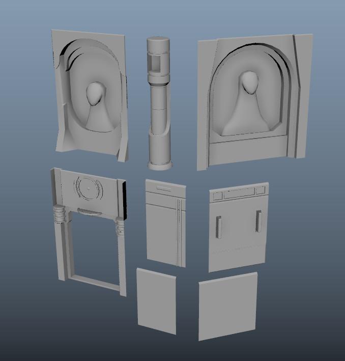 Maya panel models