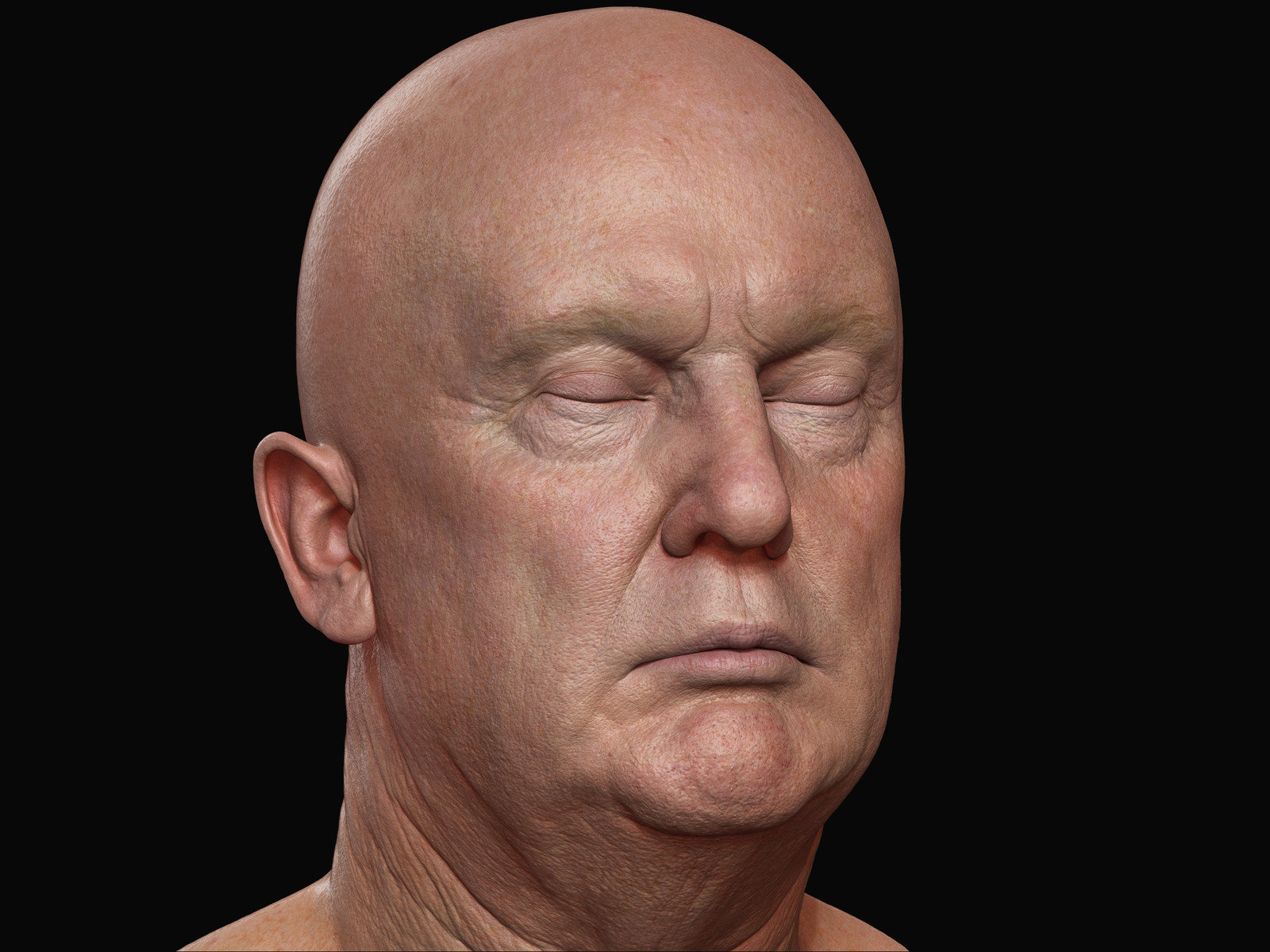 """WIDE AWAKE Trump VR"" Zbrush Shots"