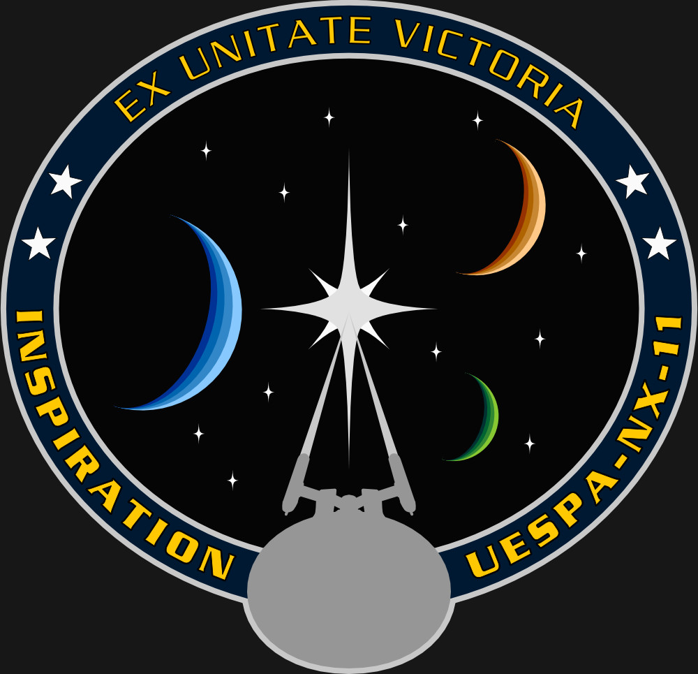 Assignment Patch for UESPA-NX-11 Inspiration (inspired on the patch from NASA mission STS-127)
