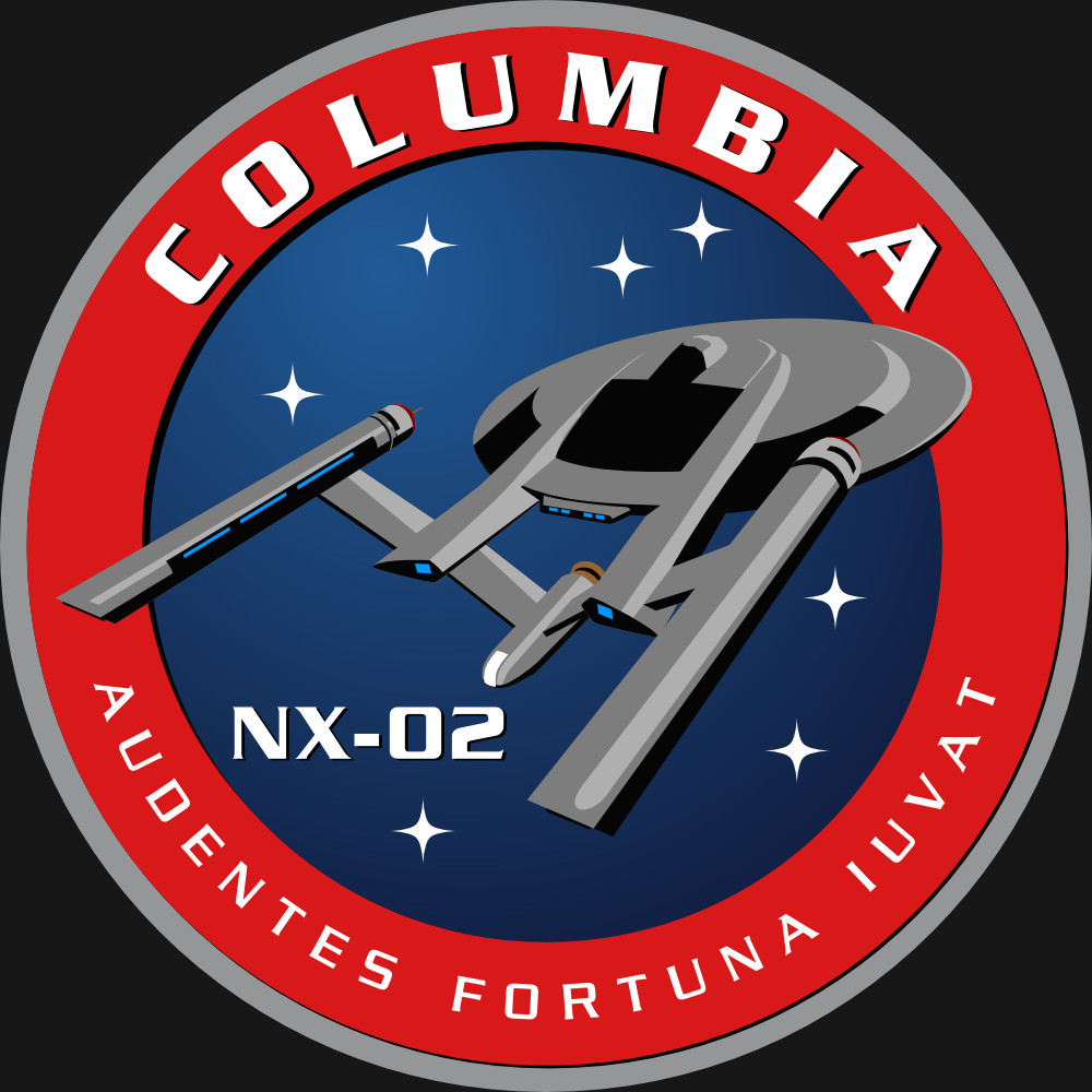 Assignment Patch for UESPA-NX-02 Columbia (based on a design by Wendy Drapanas)