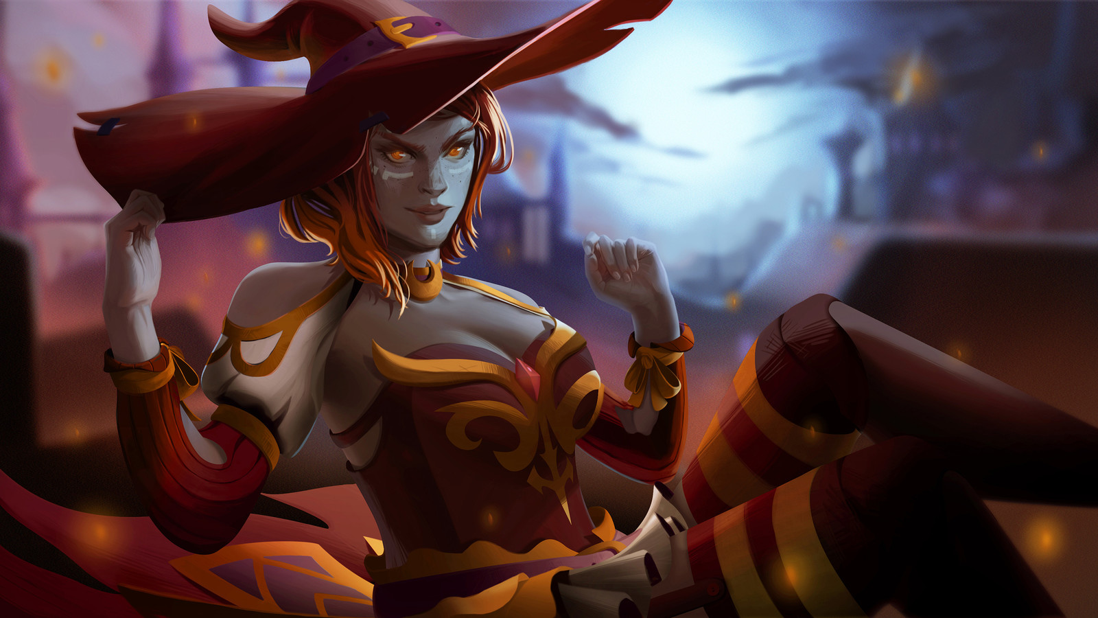 Twilight's Scarlet Slayer - DOTA 2 Lina's Set