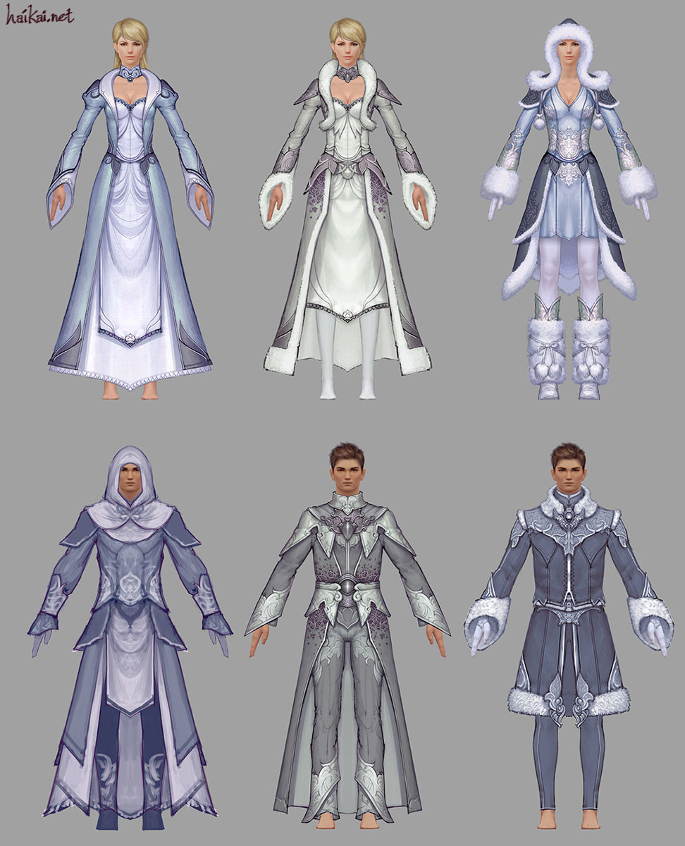 ArtStation - Guild Wars 2 Light Armor Sets, Hai Phan
