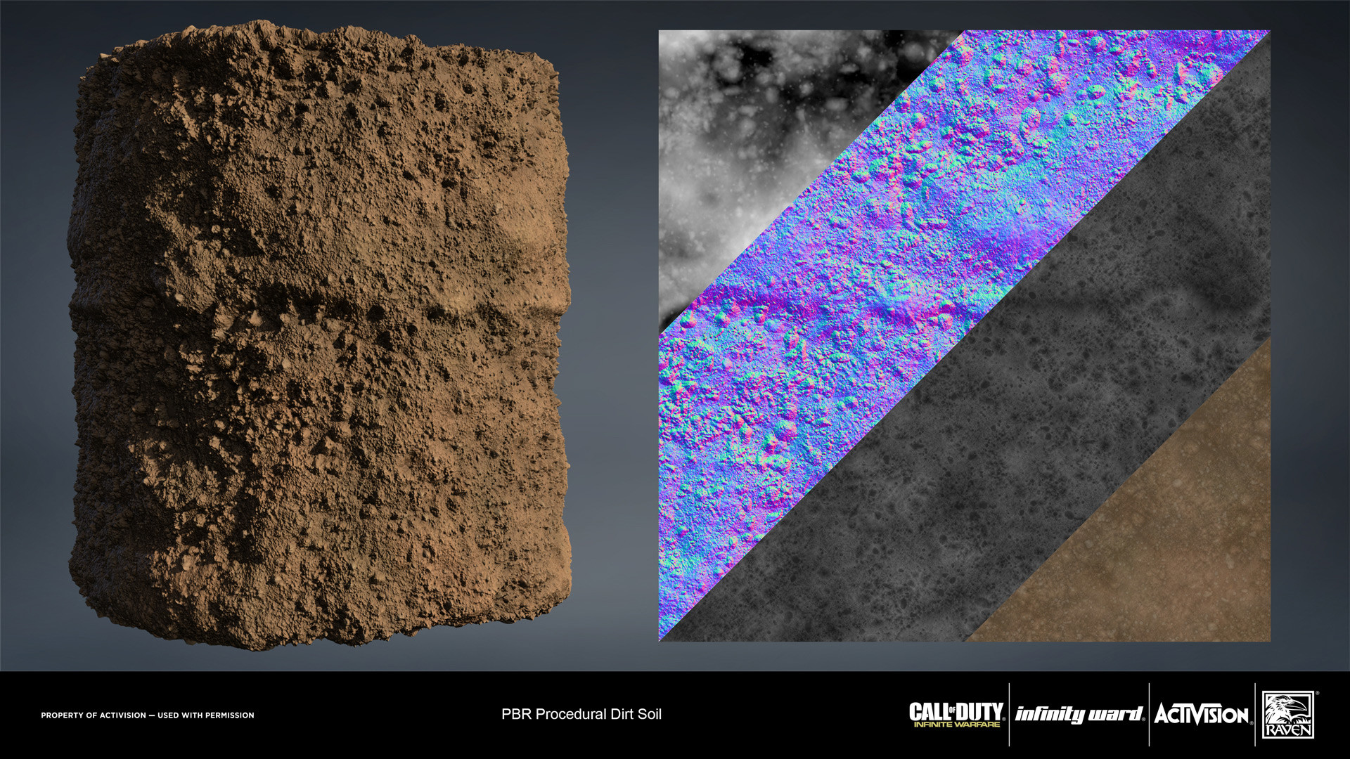 Heavy dirt soil material. Created entirely in Substance Designer.