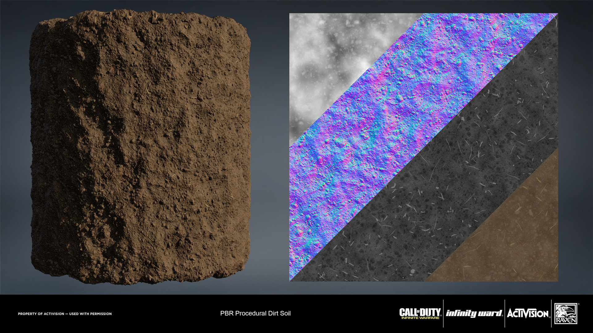 Dirt soil material. Created entirely in Substance Designer.