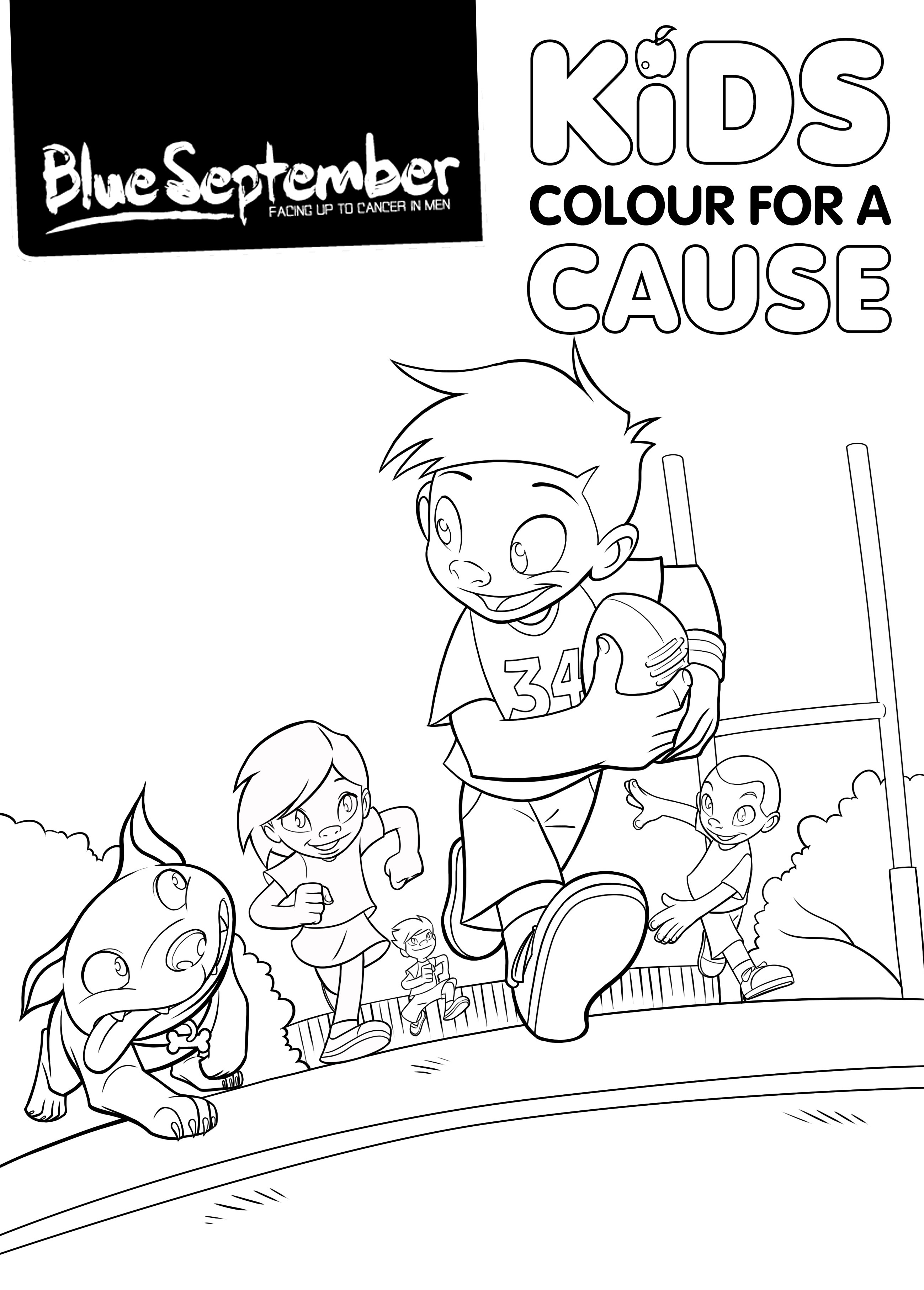 Kids Colour for a Cause 1: Colouring In Page