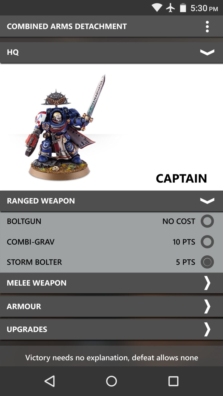 Changes reflected in the character screen, giving a more organic feel to kitting out your army