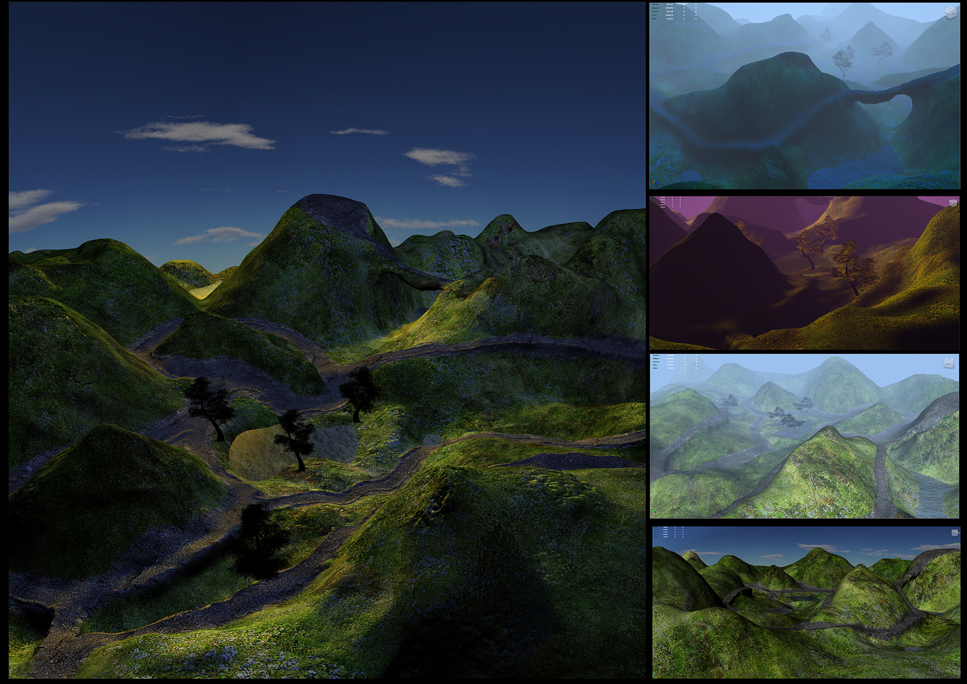 Vibhas virwani 3d landscape normal mapped with depth of field variations by vibhas virwani