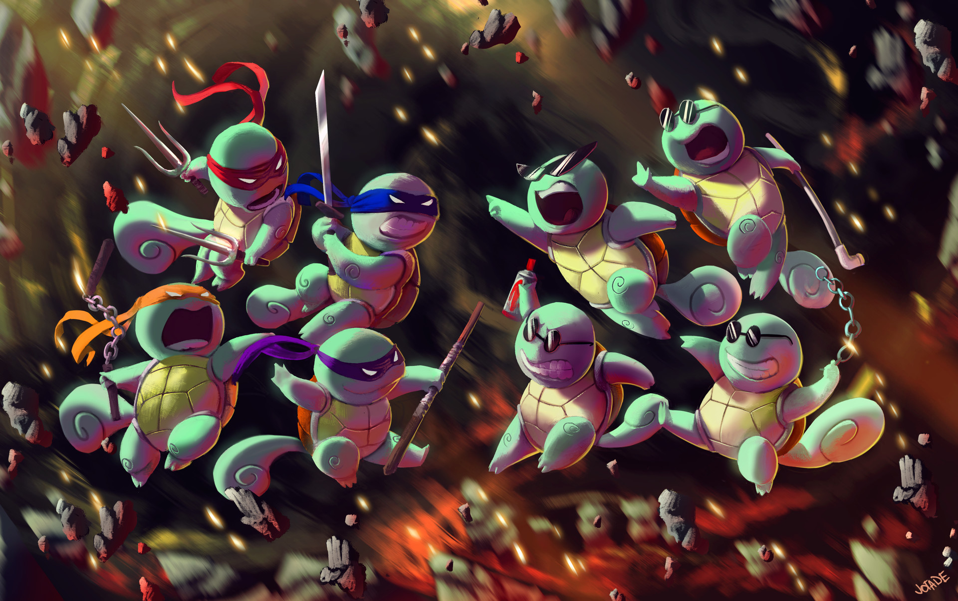 Squirtle vs #7