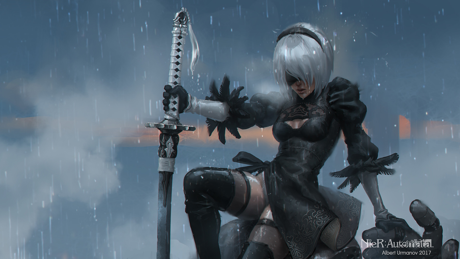 Nier Automata Fan Art Wallpaper 01 1920x1080: Nier: Automata 2B