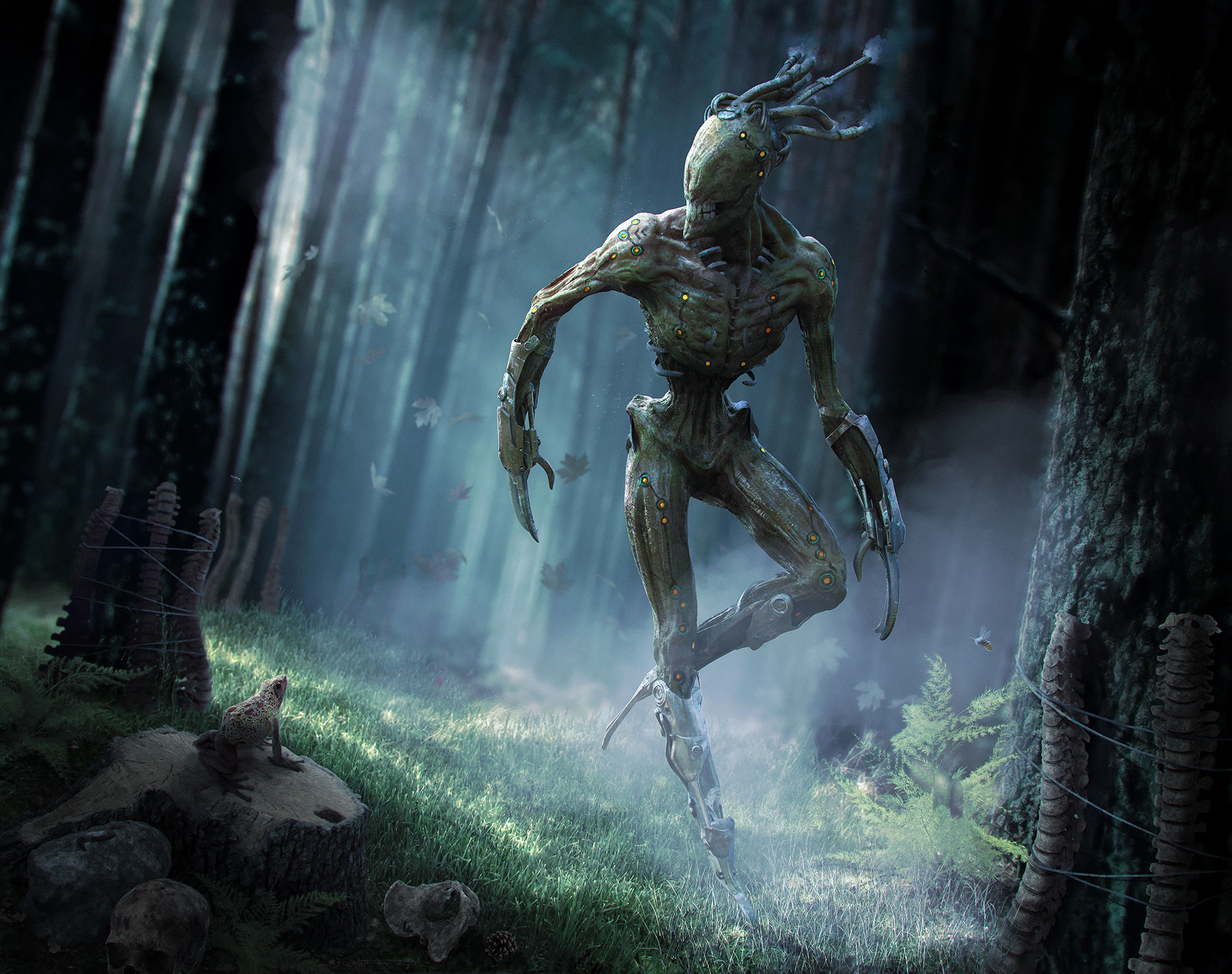 The Menk: Creepy Creature Design in Zbrush, Keyshot and PS