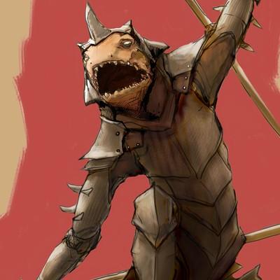 Thijs de vries lizard warrior