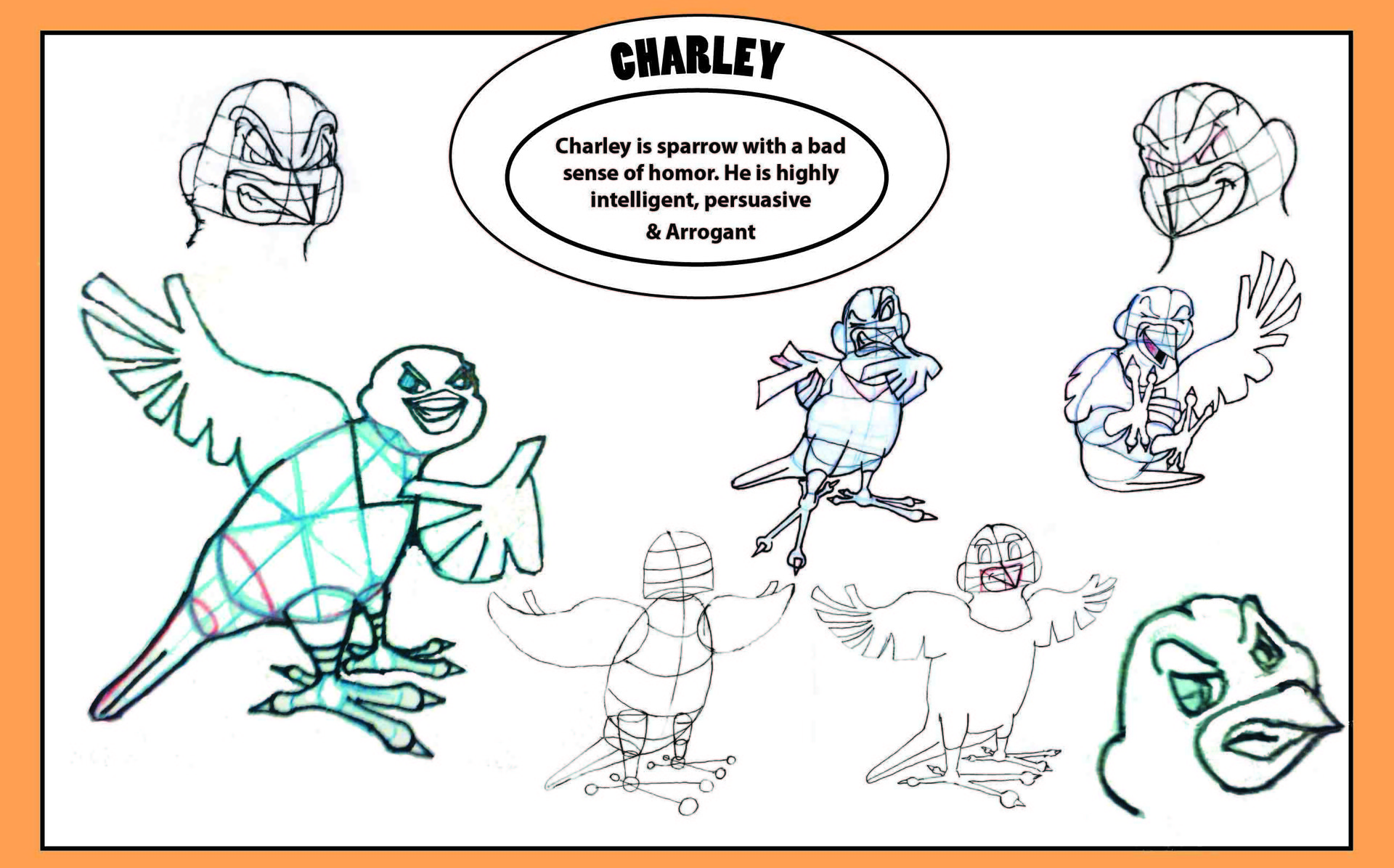 Antonio medina charcater model sheet charley