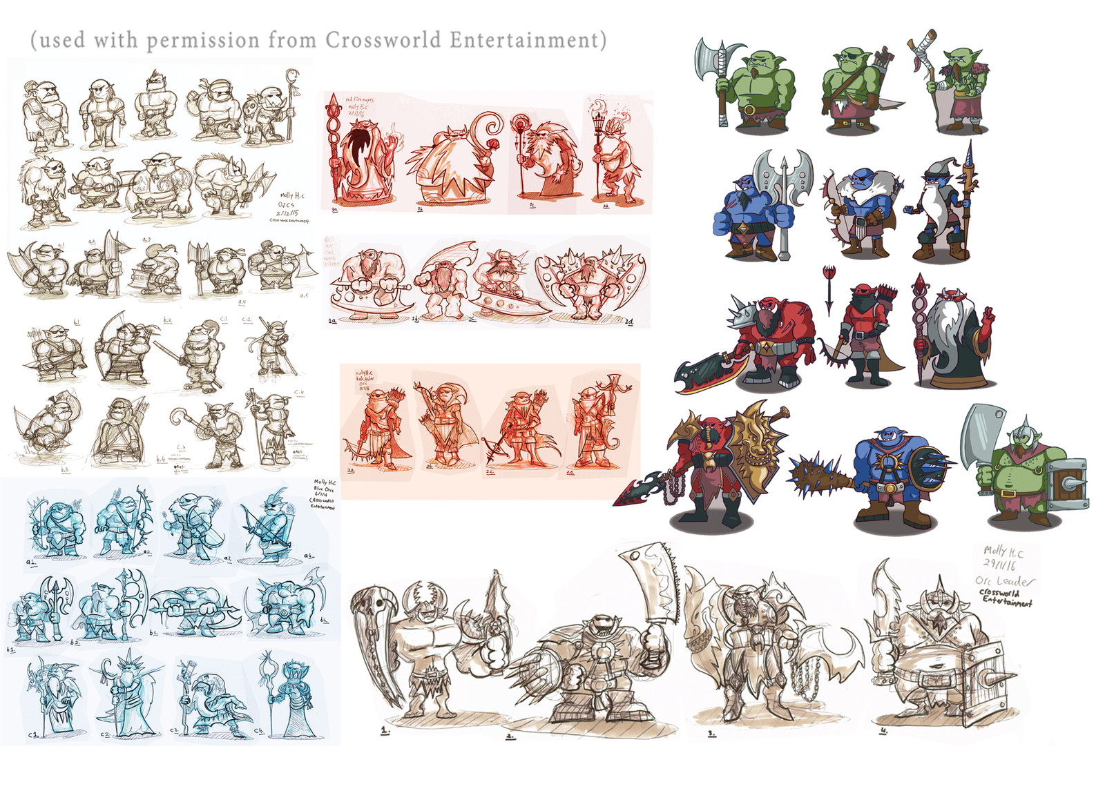 Orc Assets + Concept Sketching