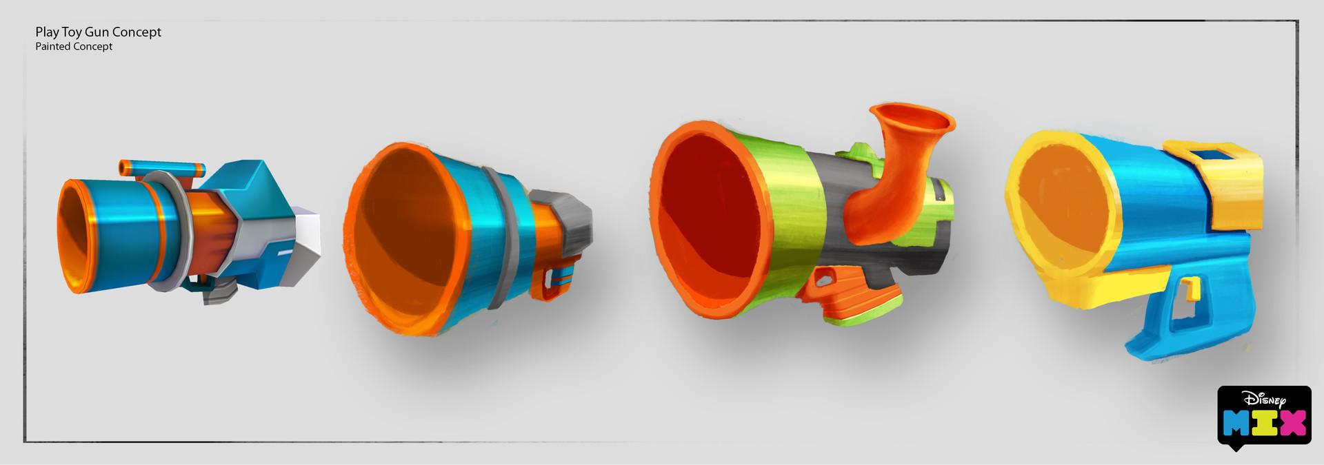 Elvis arevalo mix play toy gun concept