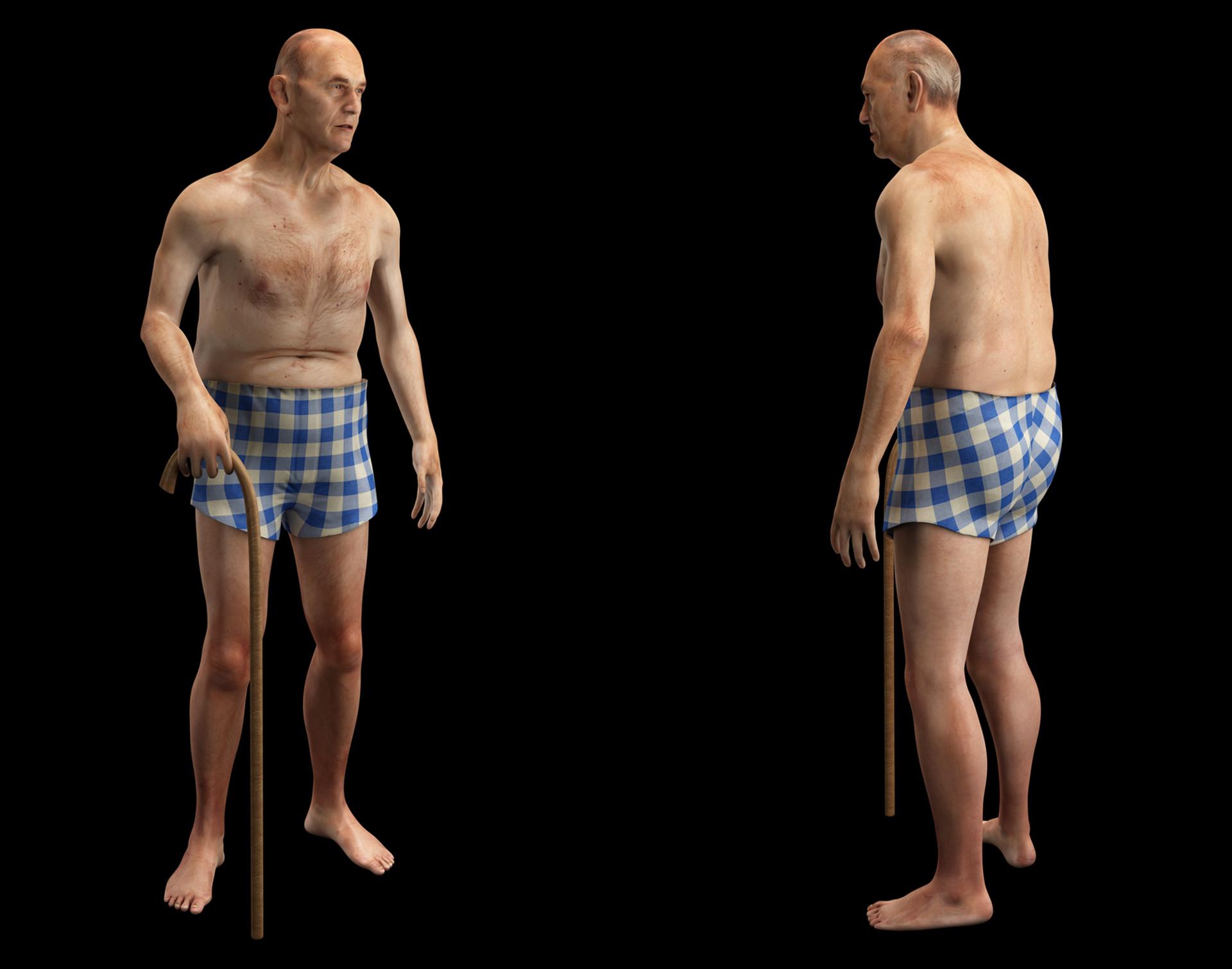 Artstation Study Of Human Anatomy Old Man Carlos Tllez