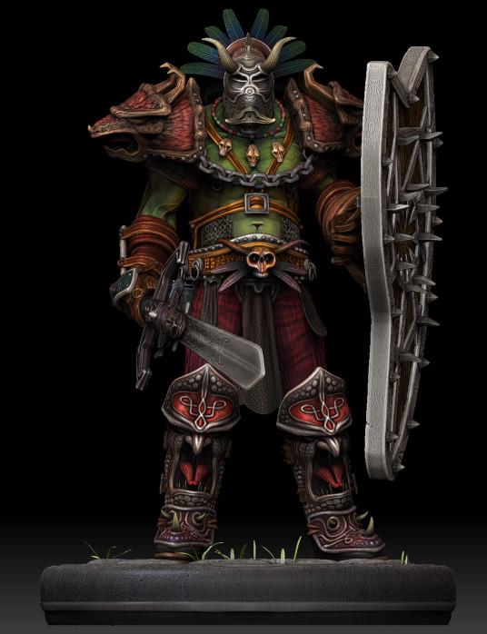 Dan burke orc voodoo warrior 01