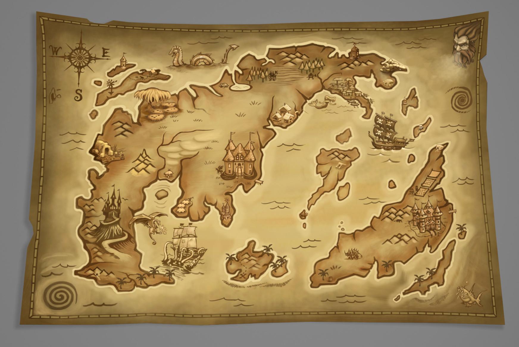 Dan burke old world fantasy map