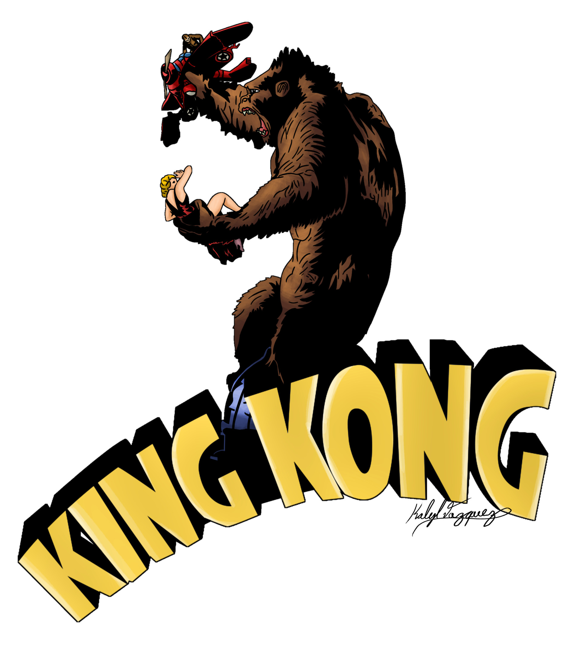 artstation king kong classic poster art kalyl vazquez rh artstation com king kong clipart free King Kong Clip Art Black and White