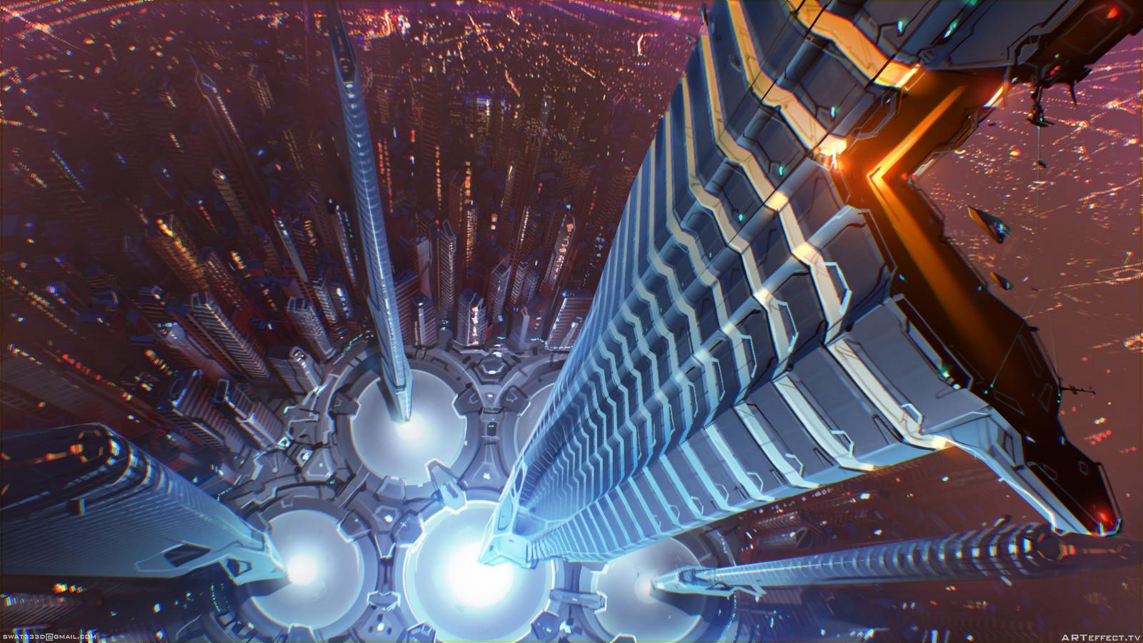 Parametric City - center ruff top