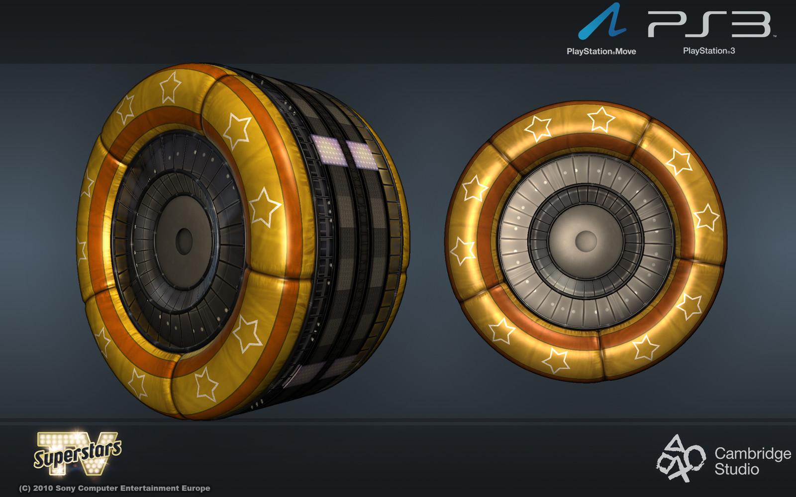 Huge wheel for the Robot Boxer level.