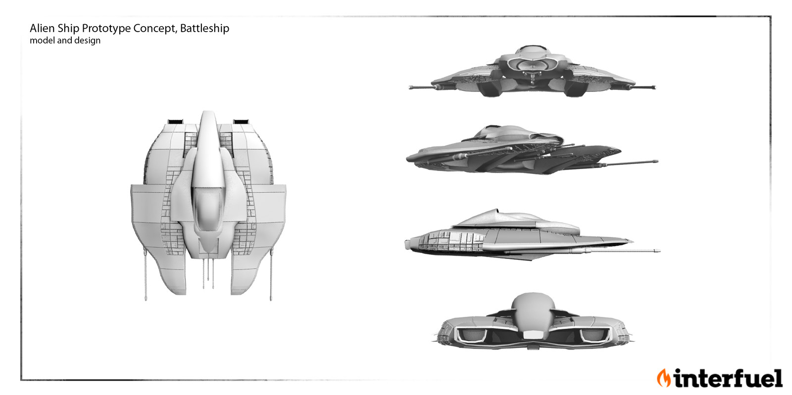 Alien Ship: Concept , design, model and composite