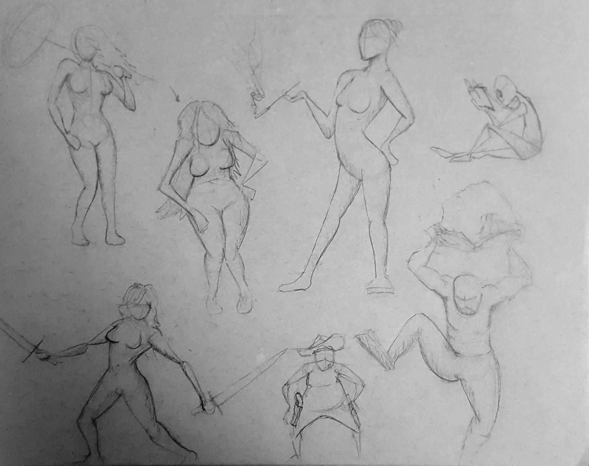 ArtStation - Five minute Gestures, Billy Monfort
