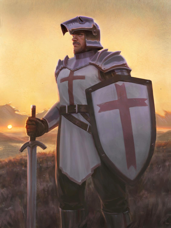 Картинка красивого крестоносца