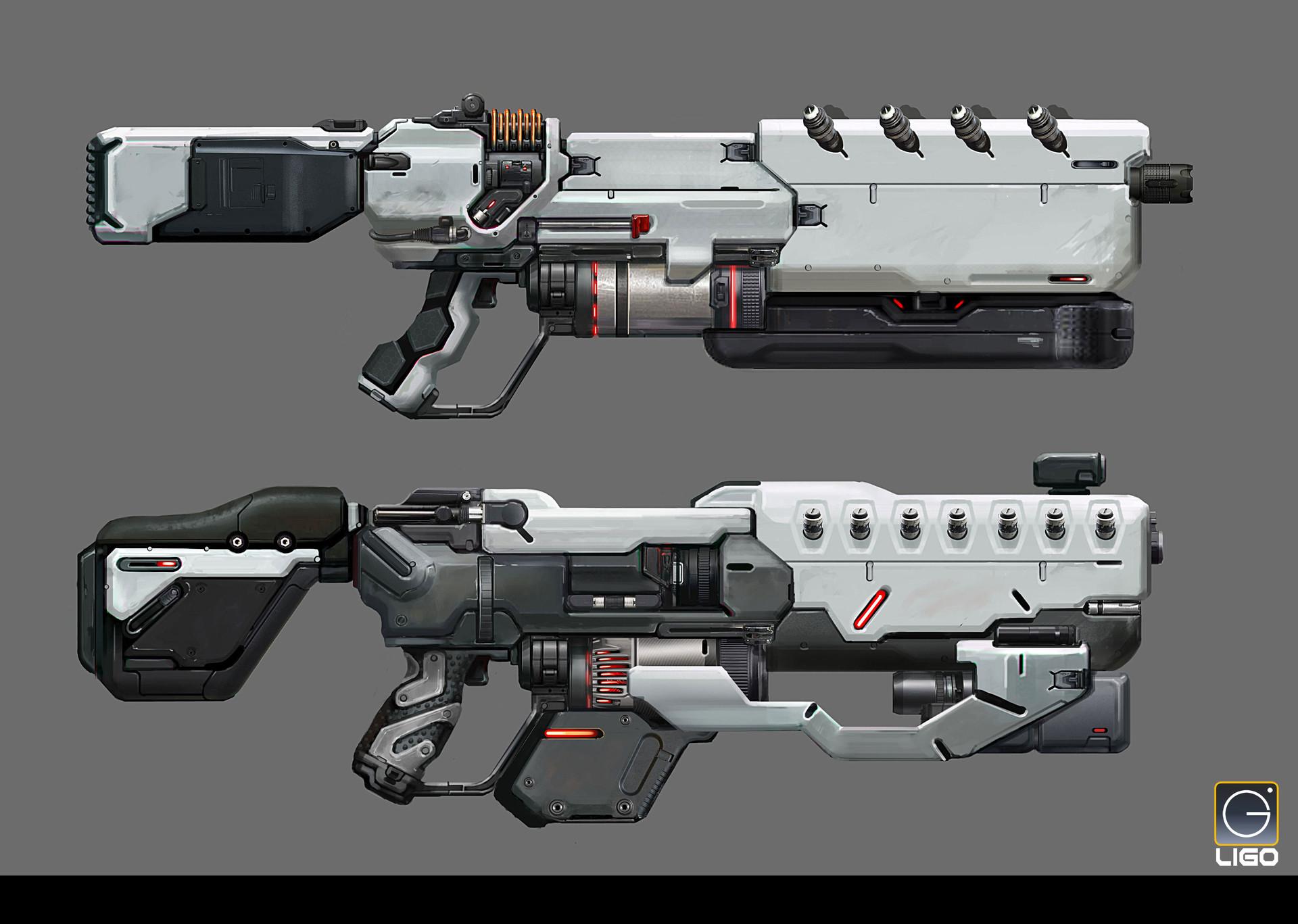 ArtStation - Assault rifle Design for the RISING FIRE, Jay Li