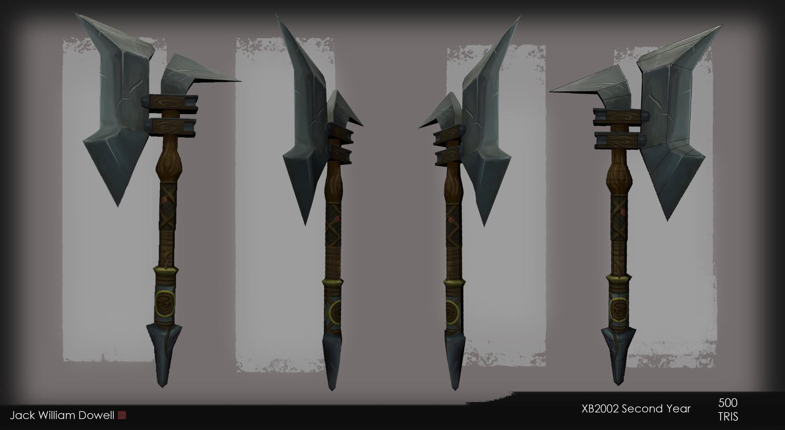 Battleaxe model and texture