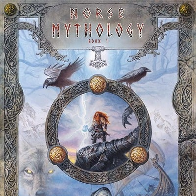Norse Mythology art book cover