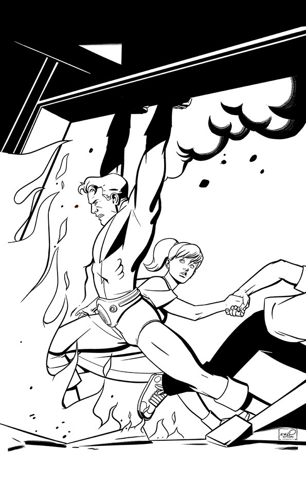 Thunder Agents Get Animated - (digital)inks
