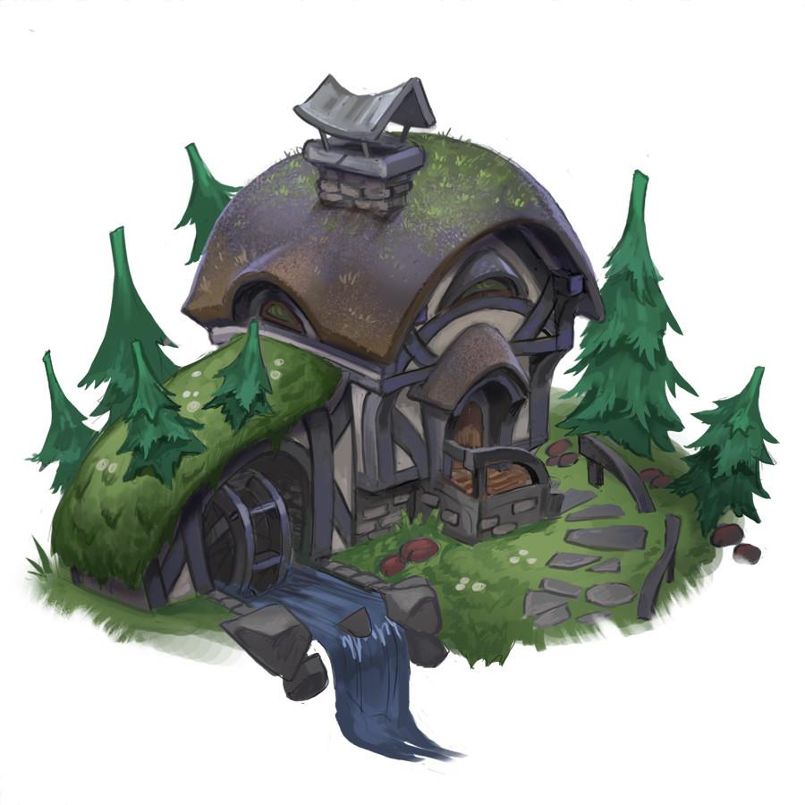 Halfling Watermill