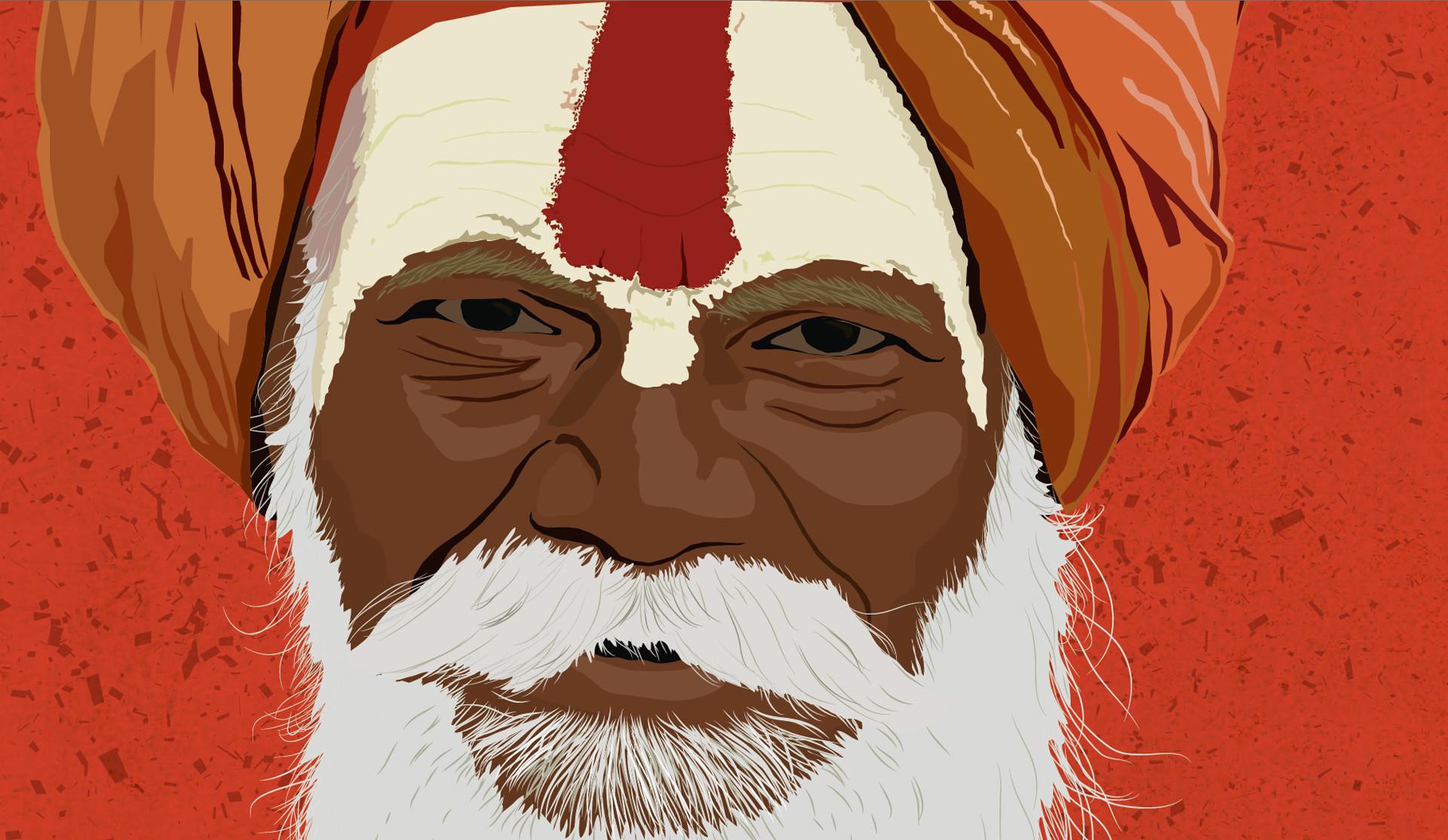 Rajesh sawant sadhu closeup