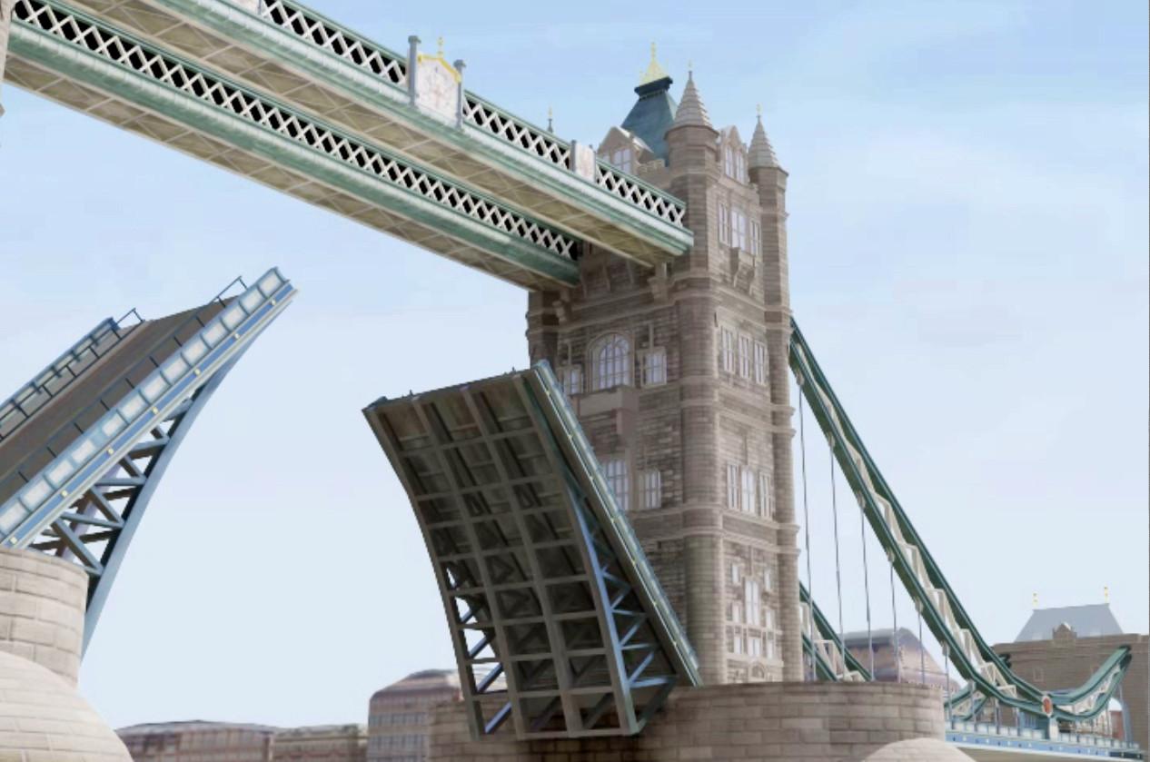 London bridge: Model, texture and lighting