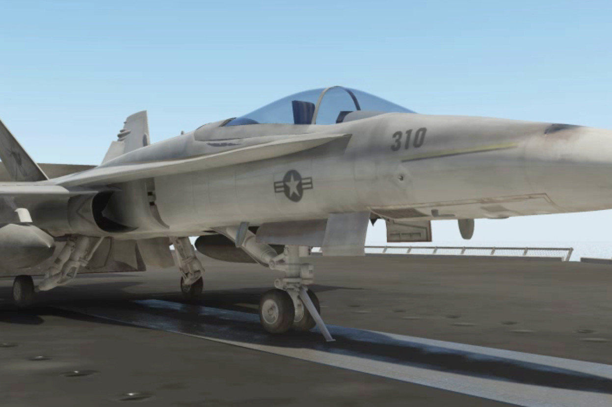 F/A-18 Hornet:  Model, Texture, Lighting and animation