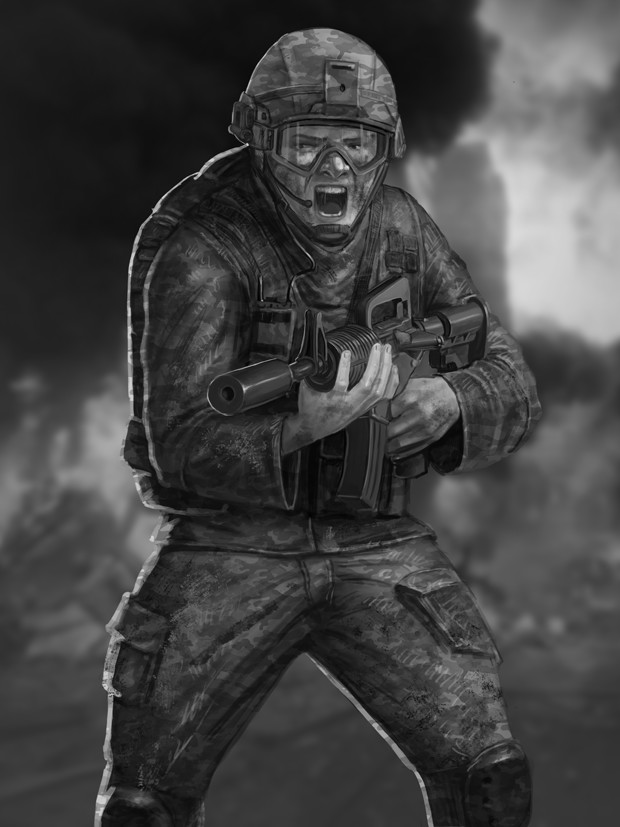 Gustavo torqueto soldier card bw1