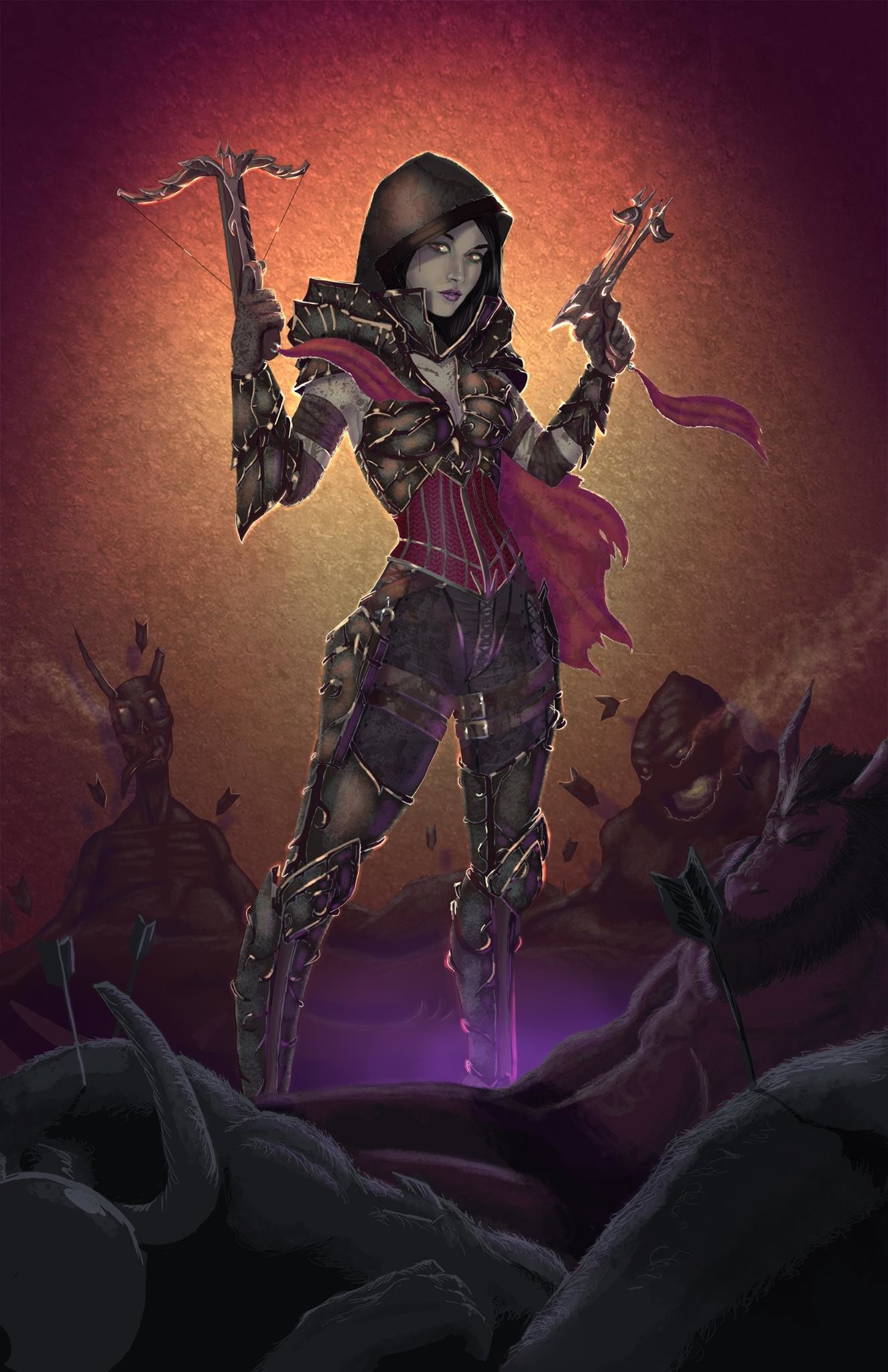 Demon Hunter painting based off of Diablo 3