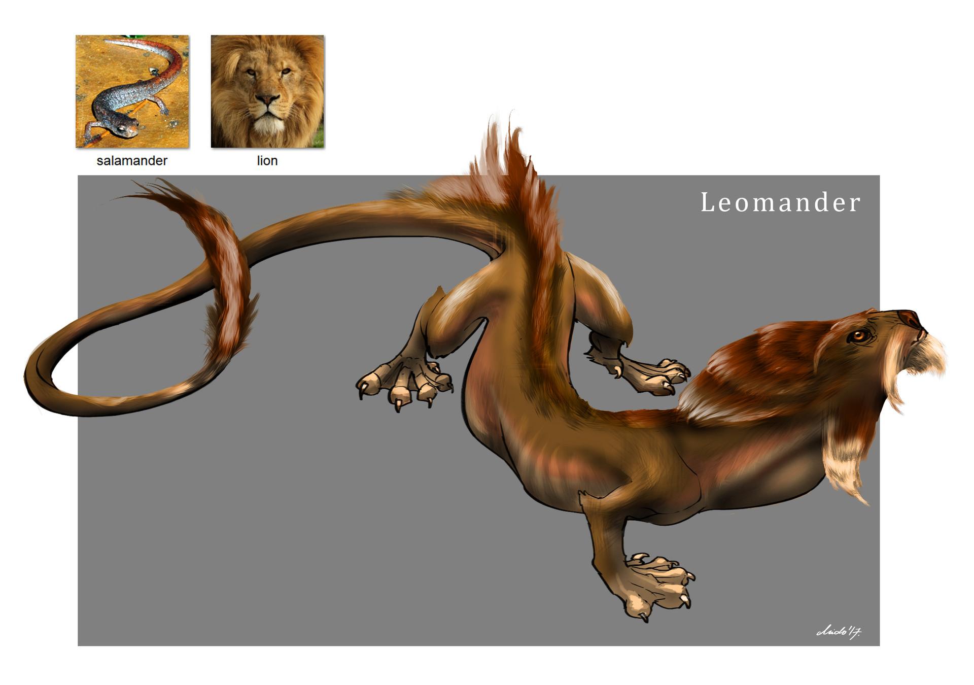 Midhat kapetanovic random creature mashup 013 leomander