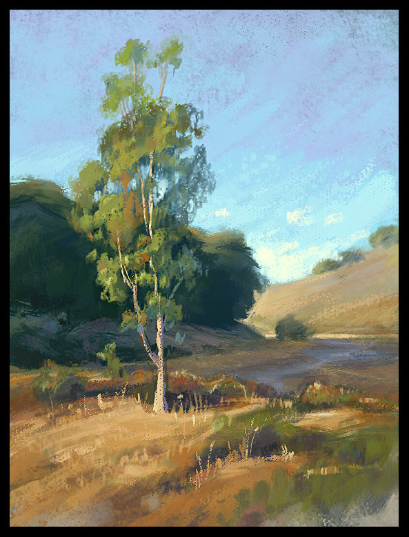 Study after a pastel piece by Kim Lordier.