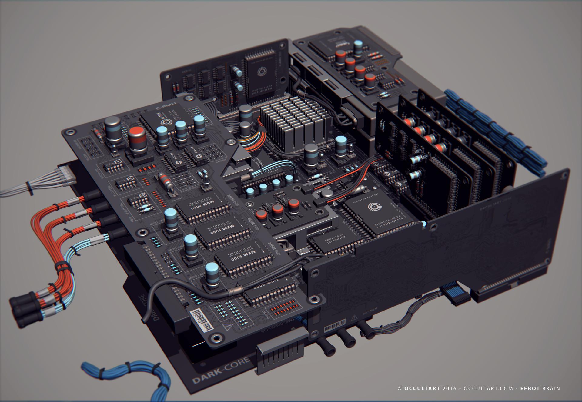 Occultart   occultart efbot brain electronics 15
