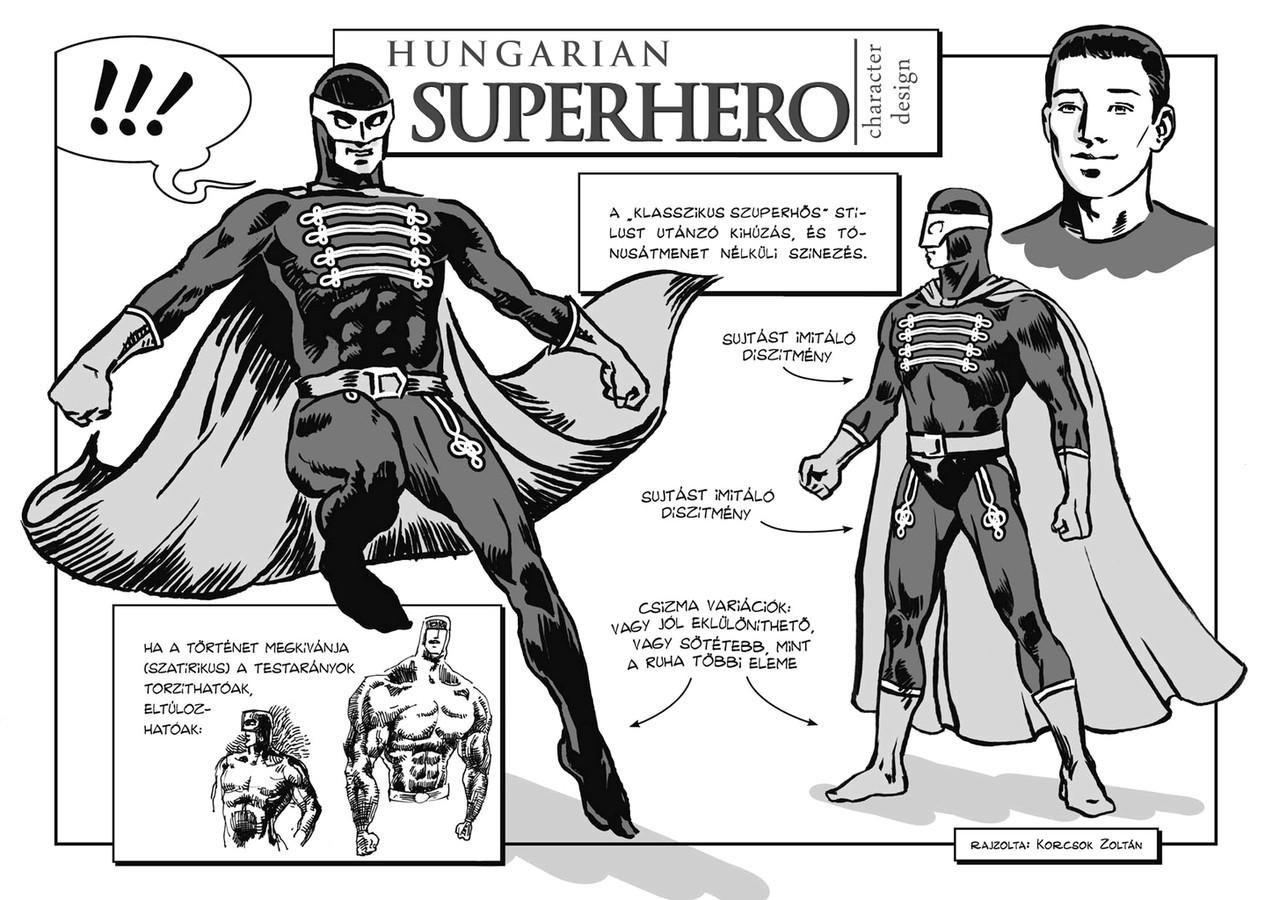 Hungarian Superhero Character Design