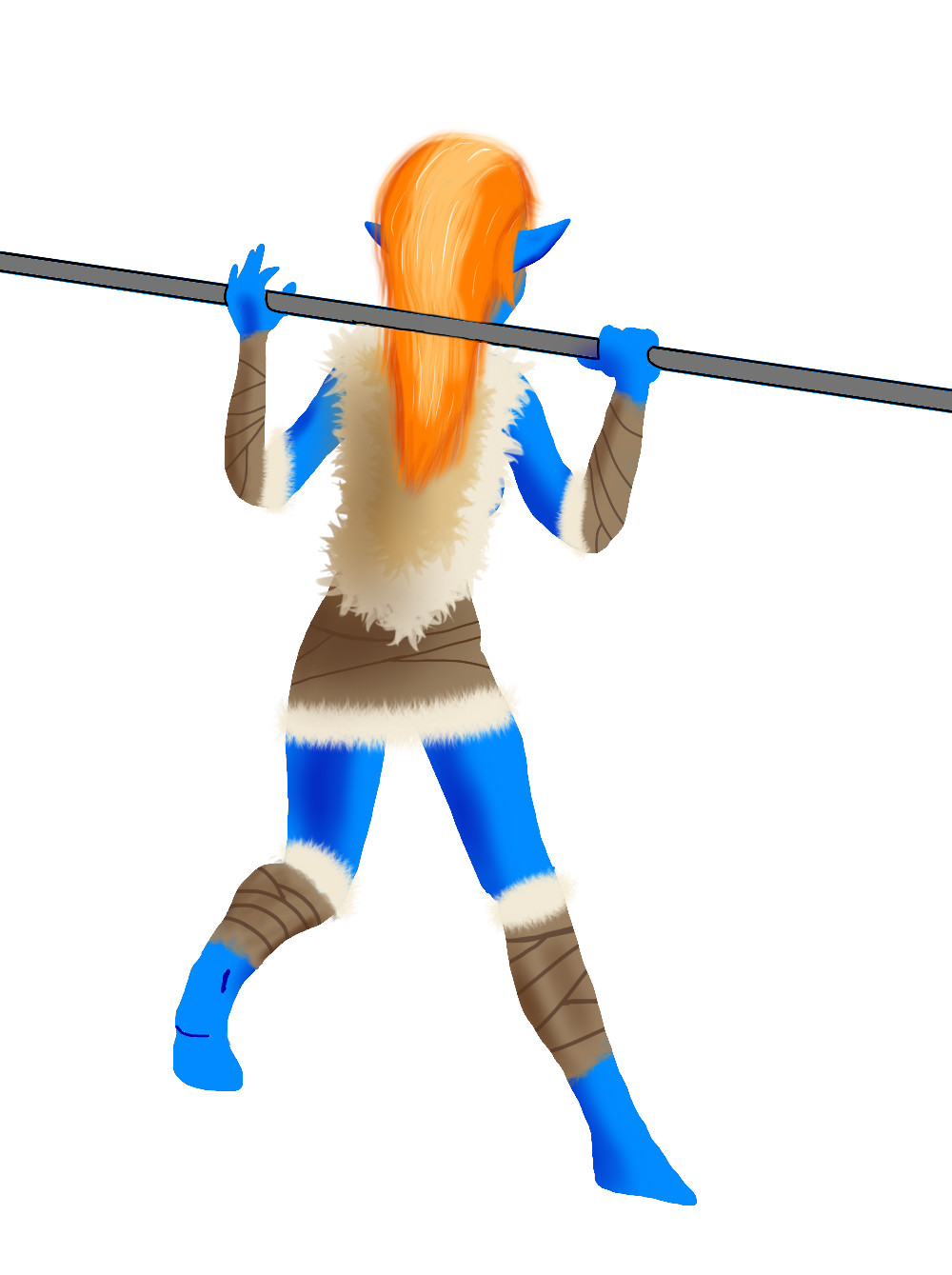 PNG of the vaulter character