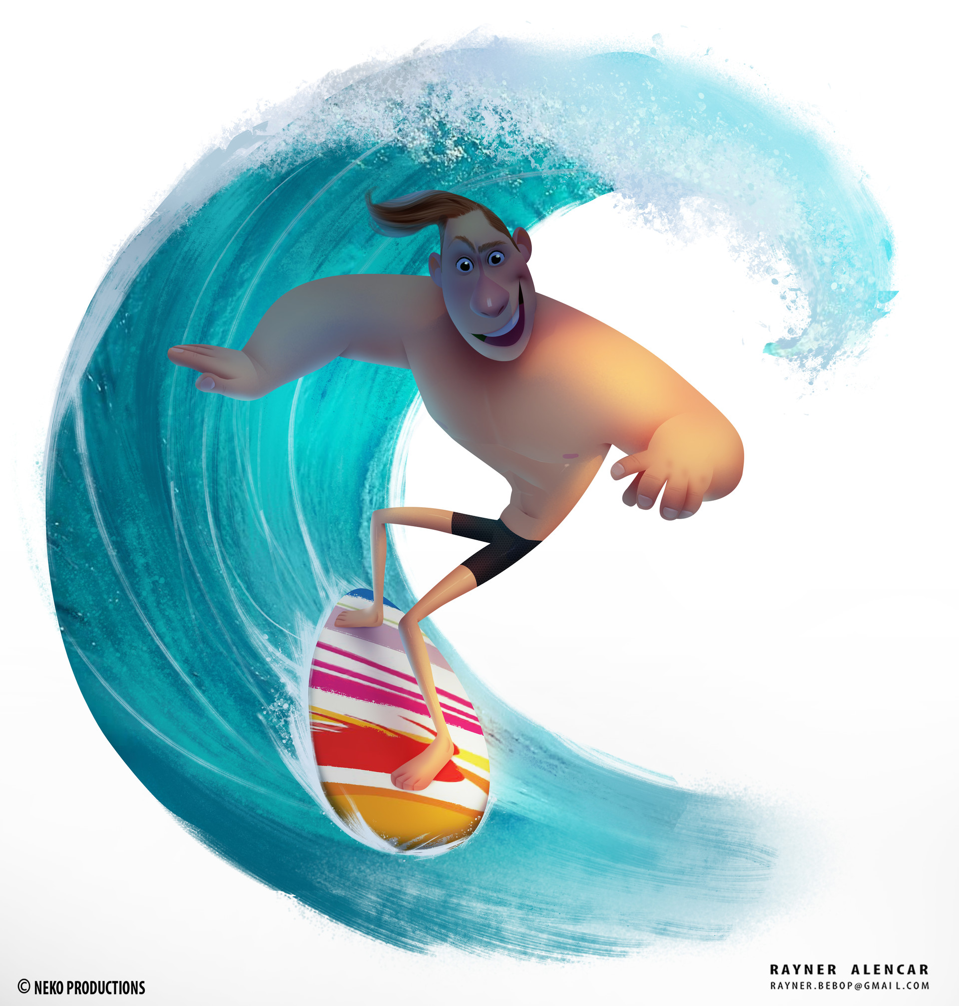 Rayner alencar surfing guy