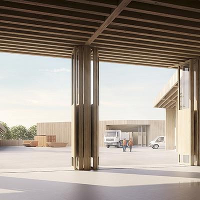 Play time architectonic image bcr architectes centre de voirie et locaux annexes genthond 2015